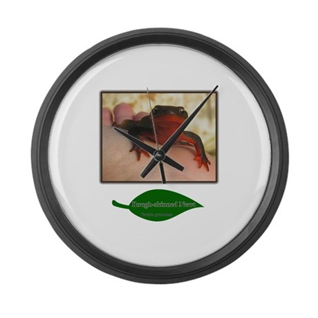 Rough Skinned Newt Salamander Large Wall Clock