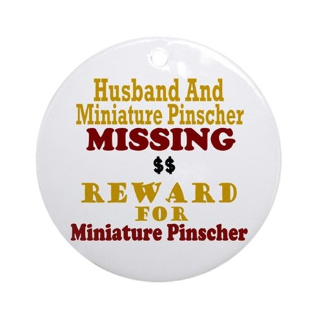Husband & Miniature Pinscher Missing Ornament (Rou