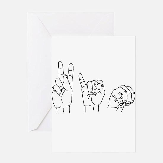 Kim in ASL Greeting Card