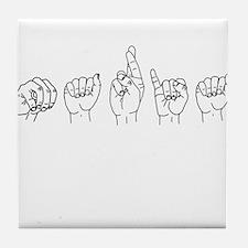 Maria (name in sign language) Tile Coaster