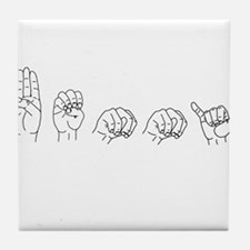 Benny name in ASL sign language Tile Coaster