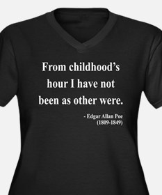 Edgar Allan Poe 19 Women's Plus Size V-Neck Dark T
