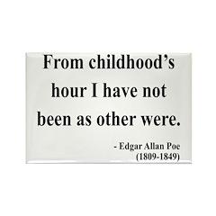 Edgar Allan Poe 19 Rectangle Magnet