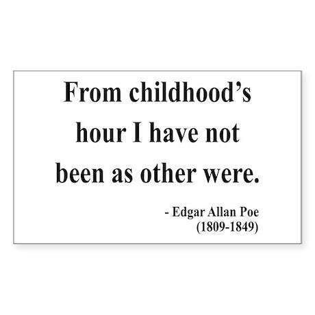 Edgar Allan Poe 19 Rectangle Sticker