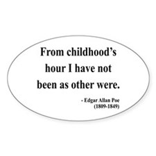 Edgar Allan Poe 19 Oval Decal