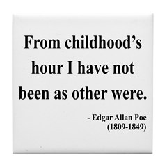 Edgar Allan Poe 19 Tile Coaster