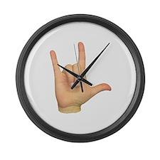 ASL I Love You Large Wall Clock