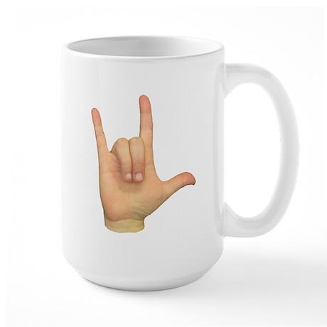 ASL I Love You Large Mug