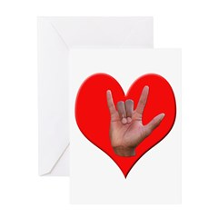 ILY Heart Greeting Card