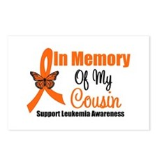 Leukemia In Memory Cousin Postcards (Package of 8)