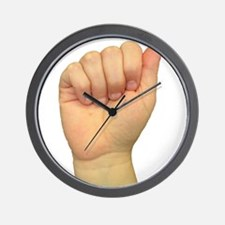 ASL Letter A Wall Clock