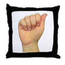 ASL Letter A Throw Pillow