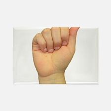 ASL Letter A Rectangle Magnet