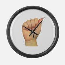 ASL Letter A Large Wall Clock