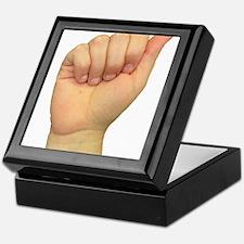 ASL Letter A Keepsake Box