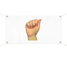 ASL Letter A Banner