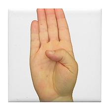 ASL Letter B Tile Coaster