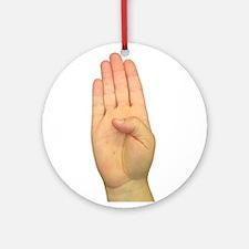 ASL Letter B Ornament (Round)