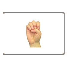 ASL Letter E Banner