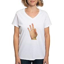 ASL Letter F Shirt