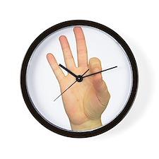 ASL Letter F Wall Clock