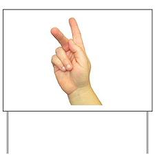 ASL Letter K Yard Sign