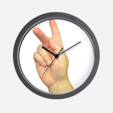 ASL Letter K Wall Clock