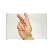 ASL Letter K Rectangle Magnet
