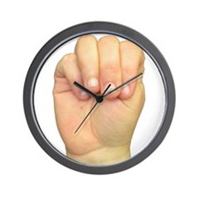 ASL Letter M Wall Clock