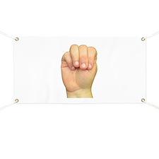 ASL Letter M Banner