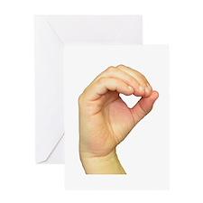 ASL Letter O Greeting Card