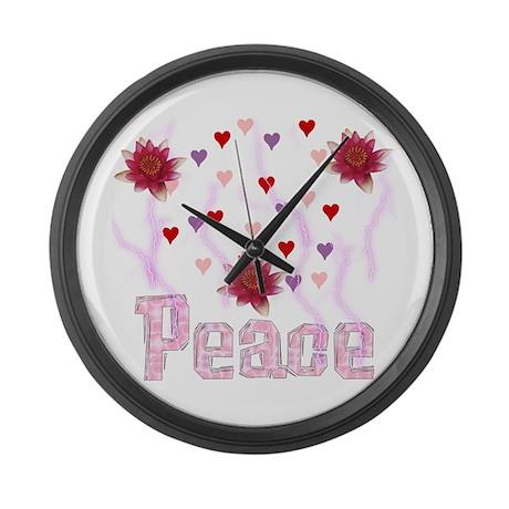 Peace Lotus Large Wall Clock