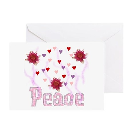 Peace Lotus Greeting Card