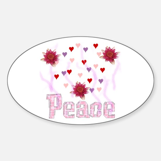 Peace Lotus Oval Decal