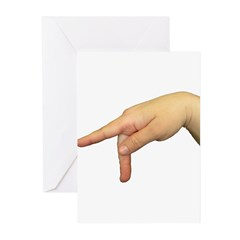 ASL Letter P Greeting Cards (Pk of 20)