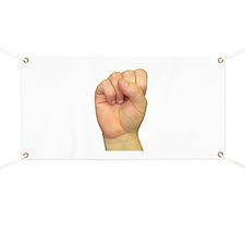 ASL Letter S Banner