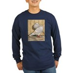 Khaki Mookee Pigeon Long Sleeve Dark T-Shirt