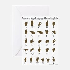 ASL Alphabet Greeting Card