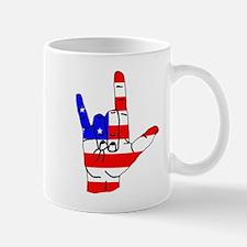 I Love USA Sign Language hand Mug