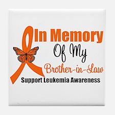 Leukemia In Memory BIL Tile Coaster
