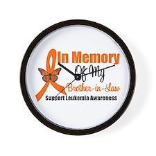 Leukemia In Memory BIL Wall Clock