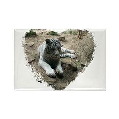 tiger in heart Rectangle Magnet (100 pack)