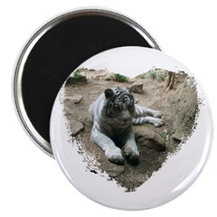 tiger in heart Magnet