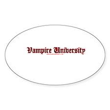 Vampire University Oval Decal