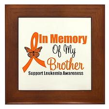Leukemia In Memory Brother Framed Tile