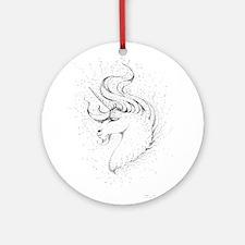 The Unicorn Ornament (Round)