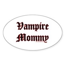 Vampire Mommy Oval Decal