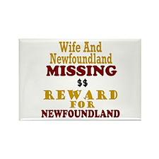 Wife & Newfoundland Missing Rectangle Magnet