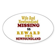 Wife & Newfoundland Missing Oval Decal