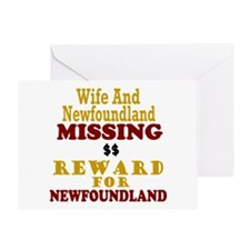 Wife & Newfoundland Missing Greeting Card